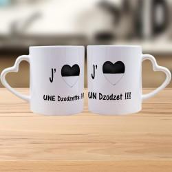 Partnertasse DUO - J'aime une Dodzette, un Dzodzet
