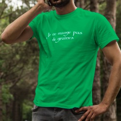 Je ne mange pas de graines ★ maître d'armes, corpore sano ★ T-shirt coton homme inspiré de la série TV Kaamelott