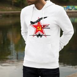 Felpa bianco a cappuccio - MiG-29 Fulcrum