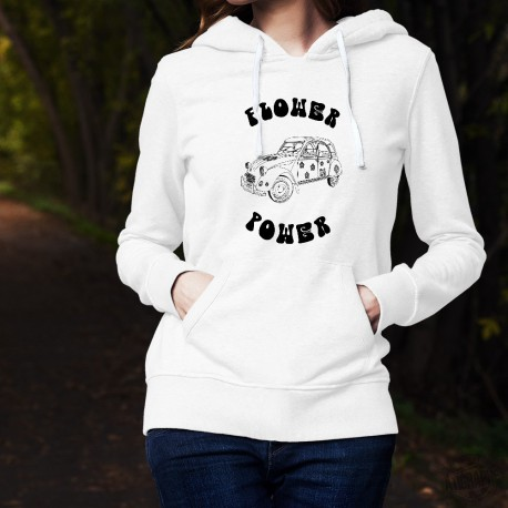Women's fashion funny Hoodie - Flower Power Deuche