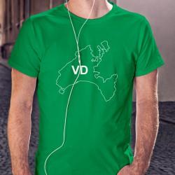 Uomo Moda cotone Vaud T-Shirt - VD, 47-Verde Prato