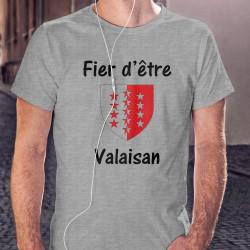 Uomo T-Shirt - Fier d'être Valaisan - Stemma, Ash Heater