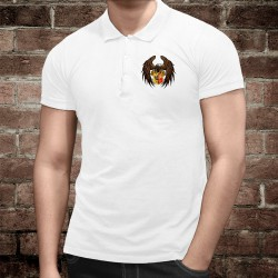 Men's Polo Shirt - Eagle and Geneva coat of arms, Front