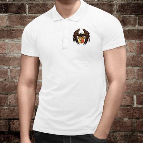 Uomo Polo Shirt - Aquila e blasone ginevrino, Davanti