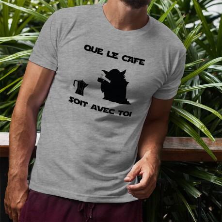 T-Shirt humoristique mode homme - Que le Café soit avec Toi, Ash Heater
