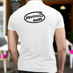 Men's Polo shirt - Electricien inside