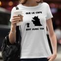 Que le Café soit avec Toi ★ Yoda ★ T-Shirt mode dame
