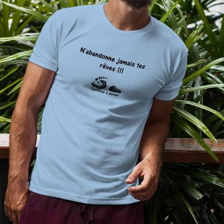 T-Shirt mode homme - N'abandonne jamais tes rêves, Blizzard Blue