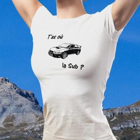 T-Shirt valaisan mode dame - T'as où la Sub ?