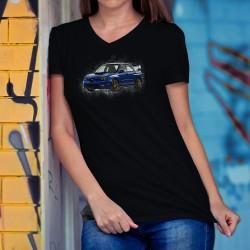 Frauen Mode Baumwolle T-Shirt - Subaru Impreza WRX STI, 36-Schwarz