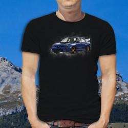 T-shirt coton mode homme - Subaru Impreza WRX STI, 36-Noir