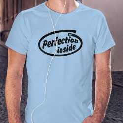 T-Shirt humoristique - Perfection inside, Blizzard Blue