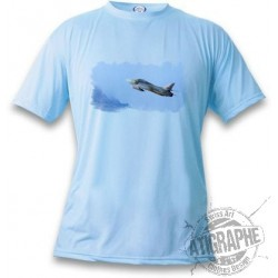 Women's or Men's Fighter Aircraft T-shirt - Swiss Hunter, Blizzard Blue
