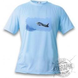 Women's or Men's Kampfflugzeug T-shirt - Swiss Hunter, Blizzard Blue