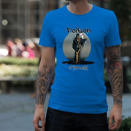 Men's Fashion cotton T-Shirt - POISON of Humanity, 51-Bleu Royal