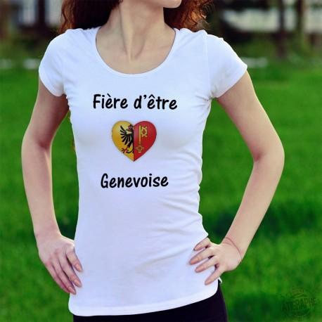 T-Shirt mode dame - Fière d'être Genevoise