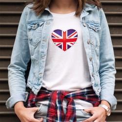 Moda Donna T-shirt - Cuore Britannico