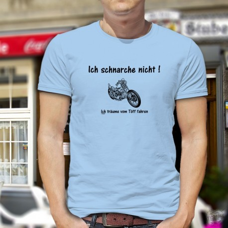 Humoristisch Herrenmode T-Shirt - Ich schnarche nicht, Blizzard Blue