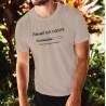 T-shirt homme - Réveil en cours, merci de ne pas brusquer, November White