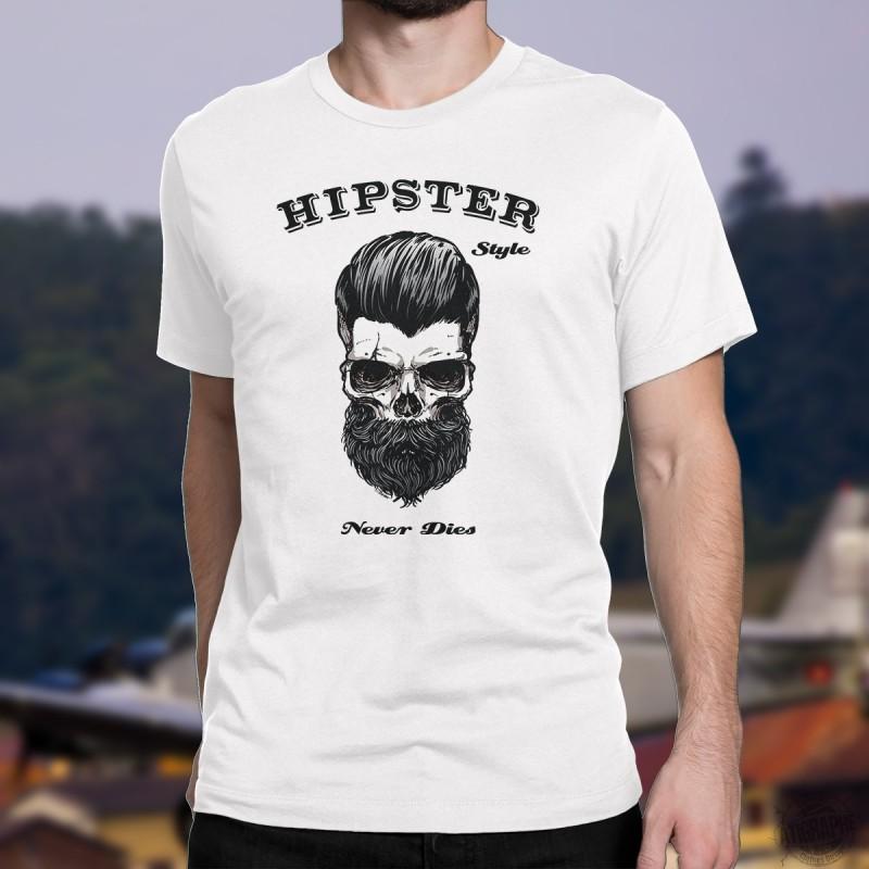 humoristisch tshirt hipster style never dies