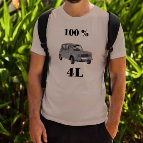 Herrenmode Humoristisch T-Shirt - 100 % 4L, November White