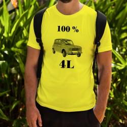 Herrenmode Humoristisch T-Shirt - 100 % 4L, Safety Yellow