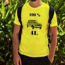 Men's Funny fashion T-Shirt - 100 % 4L, Safety Yellow