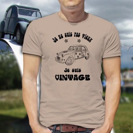Uomo moda umoristica T-Shirt - Vintage Hippie Deuche, November White