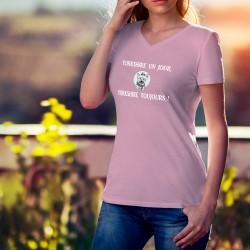 Donna cotone T-Shirt - Yorkshire un jour, Yorkshire toujours