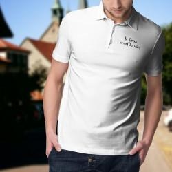 Le Gras, c'est la vie ★ Corpore sano ★ Polo shirt humoristique homme tiré d'une réplique de Karadoc dans la série TV Kaamelott