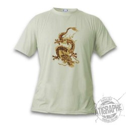 Donna o Uomo T-shirt - Chinese Drago, November White