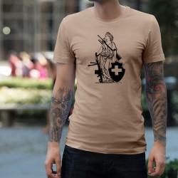 Uomo T-Shirt - New Signora Helvetia - Signora Helvetia con armi moderne, fucile d'assalto e lanciagranate
