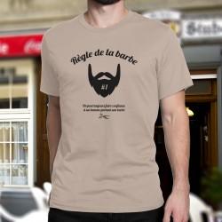 T-Shirt humoristique mode homme - Règle de la barbe N°1, On peut toujours faire confiance à un homme portant une barbe