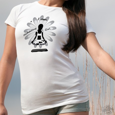 T-Shirt mode femme - I am a meditating Girl