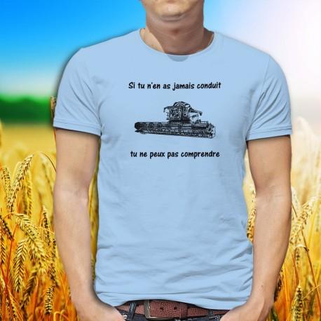 T-Shirt humoristique mode homme - moissonneuse-batteuse, Blizzard Blue