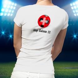 T-Shirt da calcio - Hop Suisse - moda per signora