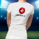 Women's slinky soccer T-Shirt - Hop Suisse