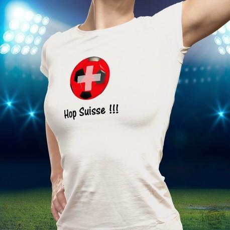 Women's soccer T-Shirt - Hop Suisse