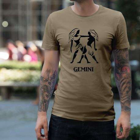 T-Shirt astrologique mode homme - signe Gémeaux, Alpin Spruce