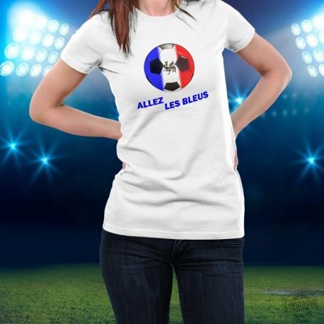 Football T-Shirt -  Allez les Bleus - mode pour dame