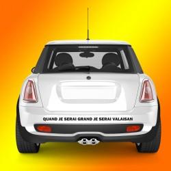 Sticker autocollant voiture - Quand je serai grand, je serai valaisan
