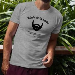 T-Shirt humoristique mode homme - Règle de la barbe N°2, Ash Heater
