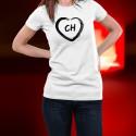 T-Shirt mode - Coeur CH