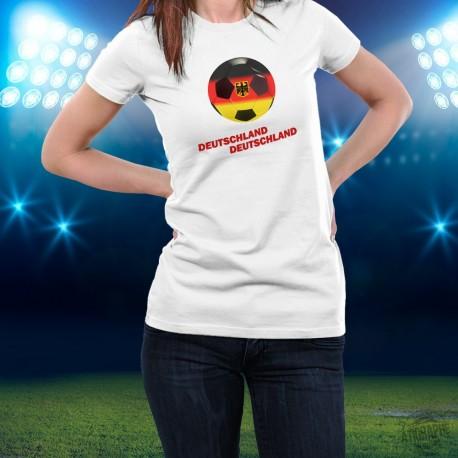 Women's slim T-shirt - Soccer - Deutschland Deutschland