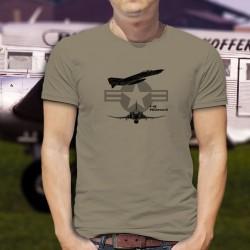 Kampfflugzeug T-Shirt USAF - F-4E Phantom II - für Herren