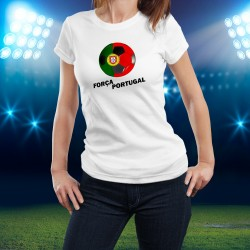 T-Shirt Football - Força Portugal - pour dame