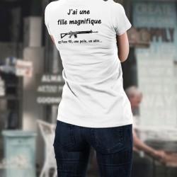 Donna moda T-shirt - J'ai une fille magnifique