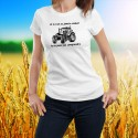 Donna moda T-shirt - Conduire un tracteur