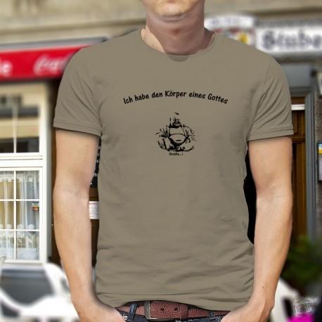 Humoristisch T-Shirt - Ich habe den Körper eines Gottes - Buddha, Alpin Spruce