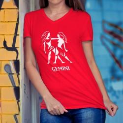 Frauen Baumwolle T-Shirt - Sternzeichen - Gemini